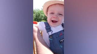 TRY NOT TO LAUGH #800  BABIES MEET ANIMALS CUTE AND FUNNY COMPILATION