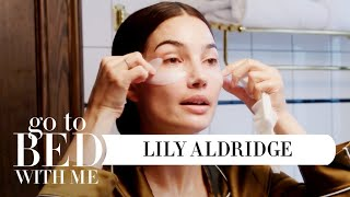 Top Model Lily Aldridge's Nighttime Skincare Routine | Go To Bed With Me | Harper's BAZAAR