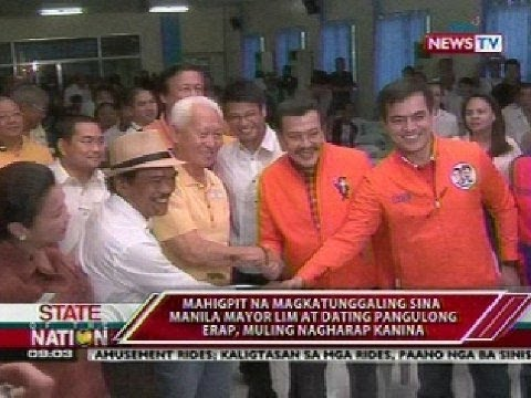 SONA: Manila Mayor Lim at dating Pangulong Erap, muling nagharap kanina