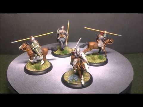 SAGA Norman Hearthguards and Warlord showcase.