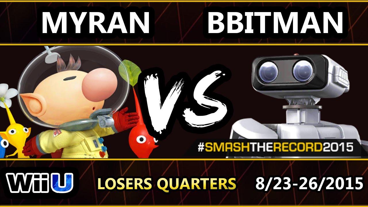 STR2015 - Myran (Olimar) Vs. GOTE | 8Bitman (R.O.B.) SSB4 Losers Quarters - Smash Wii U