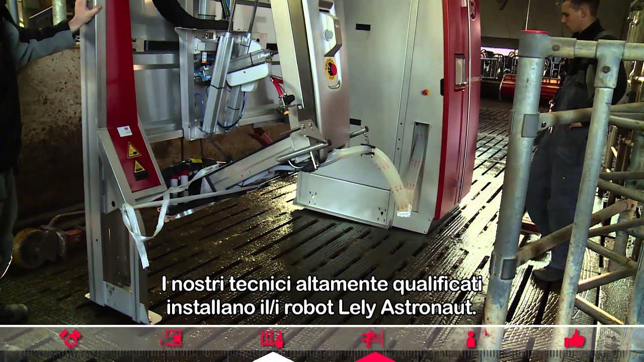 Lely Astronaut - La fase di Start up del robot di mungitura (Italian)