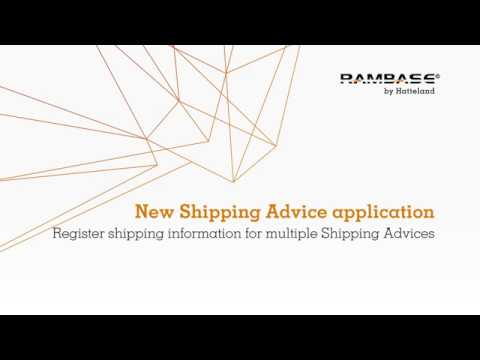 Register shipping information for multiple Shipping Advices