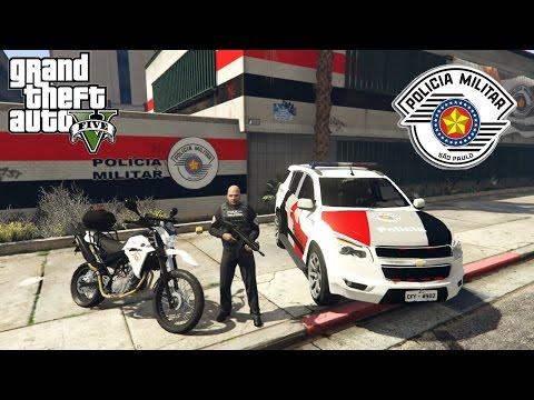 GTA 5 MODS - VIDA DE POLÍCIA #13  Melhores Perseguições da Rocam! (ao vivo) MOD VIDA REAL