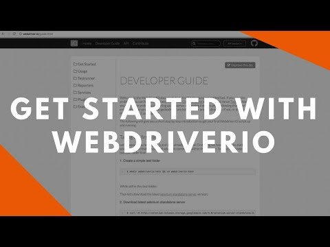 Get Started With WebdriverIO - WebdriverIO Wednesdays