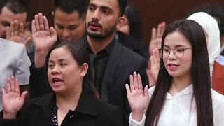 Dozens sworn in as naturalized U.S. Citizens