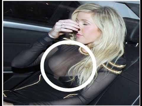 Ellie Goulding Slips Out Of Dress!!