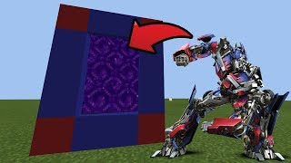 How To Make a Portal to the Transformers DIMENSION in Minecraft Pocket Edition
