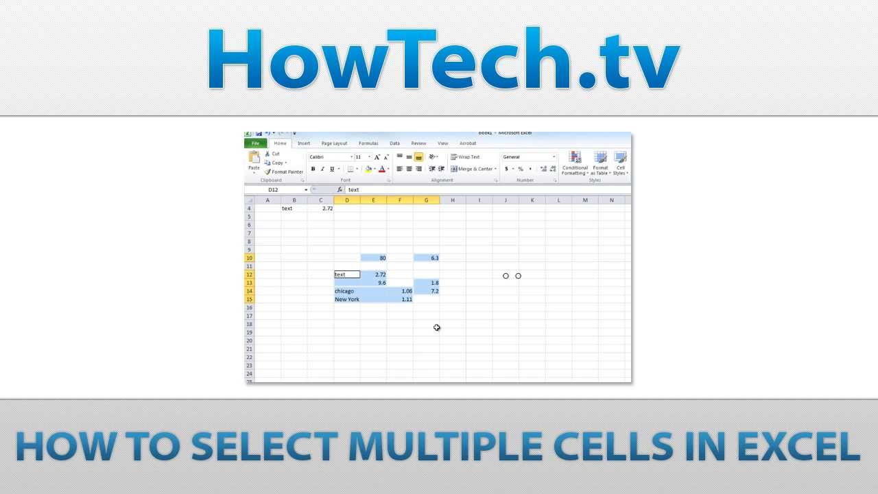 How To Select Multiple Cells In Excel Youtube