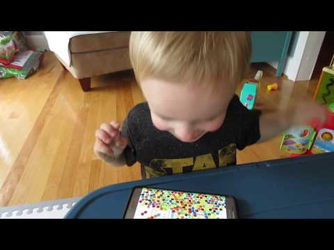2 yo Toddler laughing - best apps for 2 year old toddlers