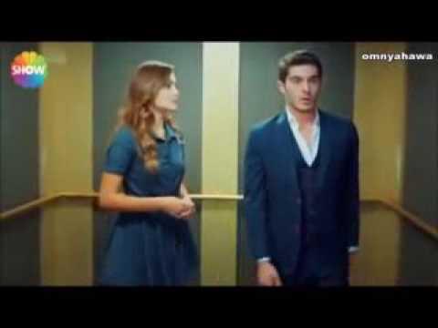 مراد وحياة مشهد حب في المصعد من الحلقة 10 مسلسل الحب لايفهم من