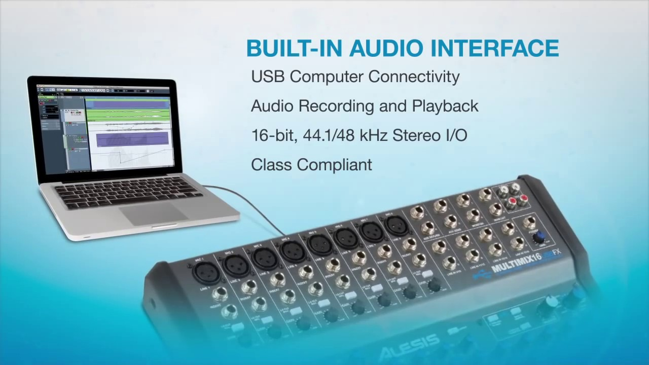 Alesis MultiMix 16 USB FX Overview