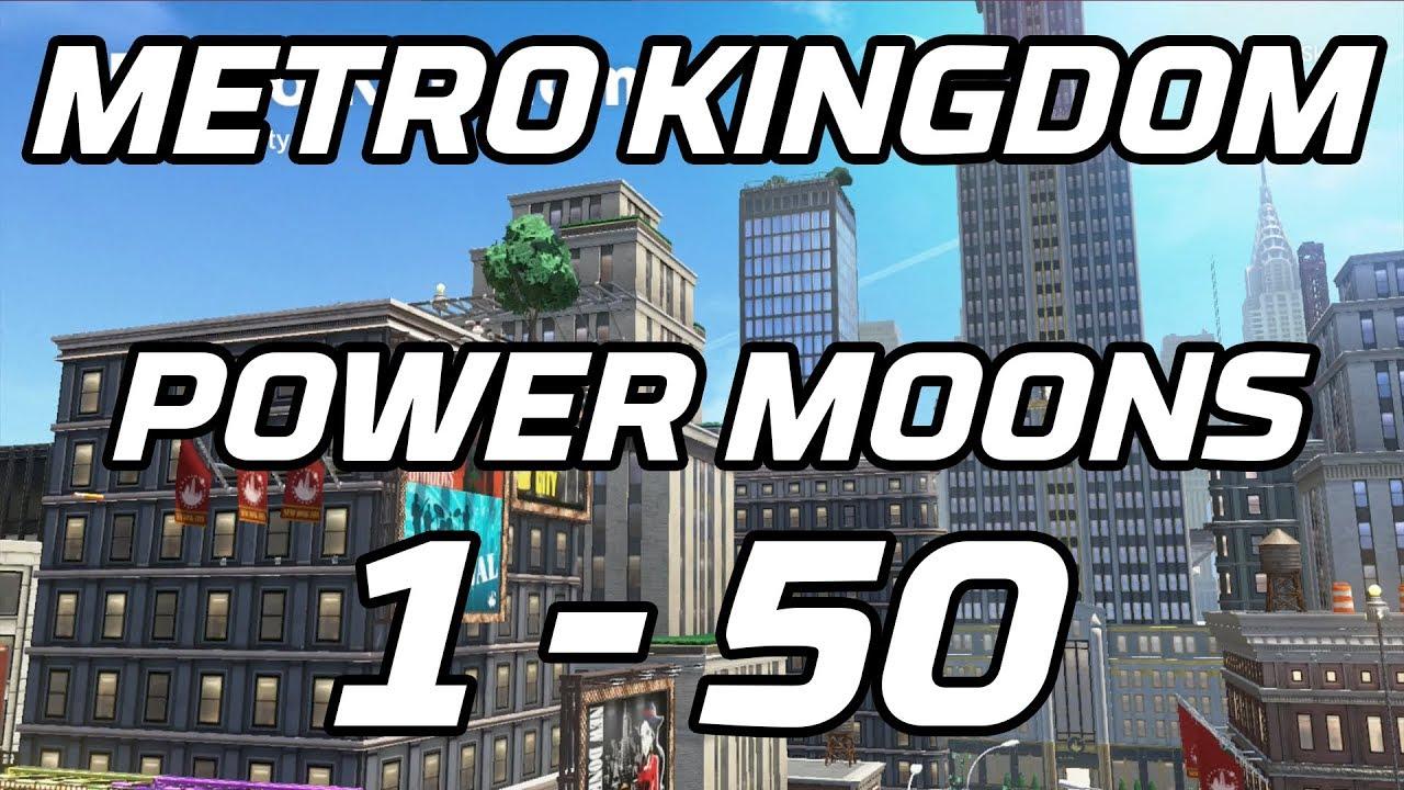 Super Mario Odyssey Metro Kingdom Power Moons 1 50 Guide New