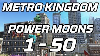 [Super Mario Odyssey] Metro Kingdom Power Moons 1 - 50 Guide (New Donk City)