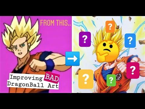 Improving BAD Dragonball Artwork! | Goku SSj2 | Episode 1
