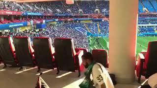 """بالفيديو.. جماهير """" الأخضر """" تؤدي الصلاة خلال حضورها مباراة أوروغواي - صحيفة صدى الالكترونية"""
