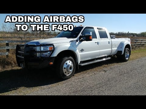 The Ford F450 gets a BIG Upgrade! Air Lift Airbags