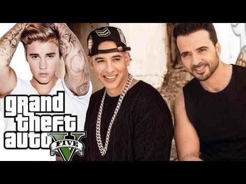 Luis Fonsi, Daddy Yankee - Despacito Ft. Justin Bieber. (GTA V) (GTA ONLINE)