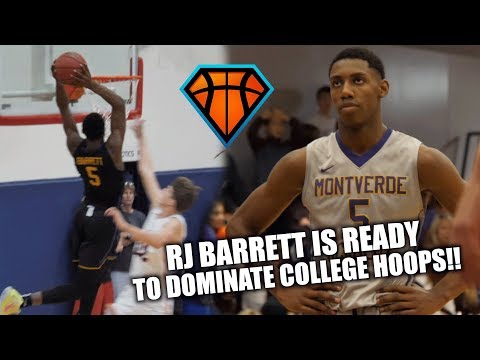 RJ Barrett is READY TO DOMINATE College Hoops!! | Duke Bound Senior's FULL HIGHLIGHTS