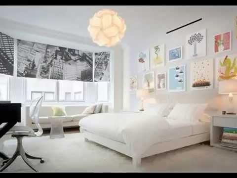 غرف نوم بيضاء 2015   صور ديكورات غرف نوم بيضاء مودرن من أحدث
