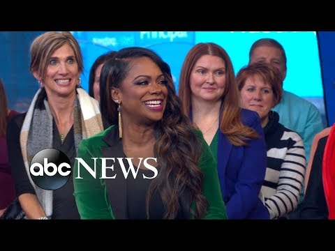 'Real Housewives of Atlanta' star Kandi Burruss visits Times Square