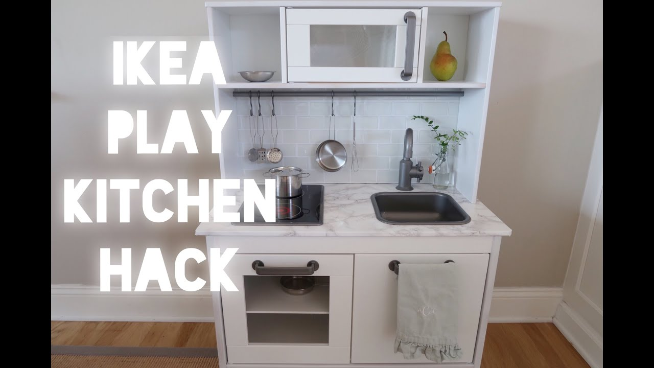 Play Kitchen Ikea Island With Stools Modern Hack Youtube