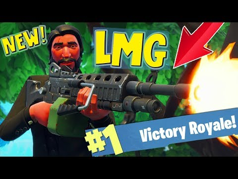 NEW! LIGHT MACHINE GUN SOLO WIN!! - FORTNITE BATTLE ROYALE!!