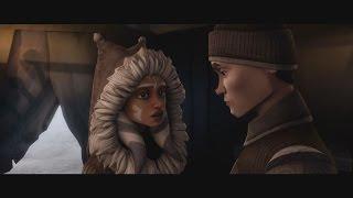 Star Wars: The Clone Wars - Ahsoka Tano & Lux Bonteri kiss [1080p]