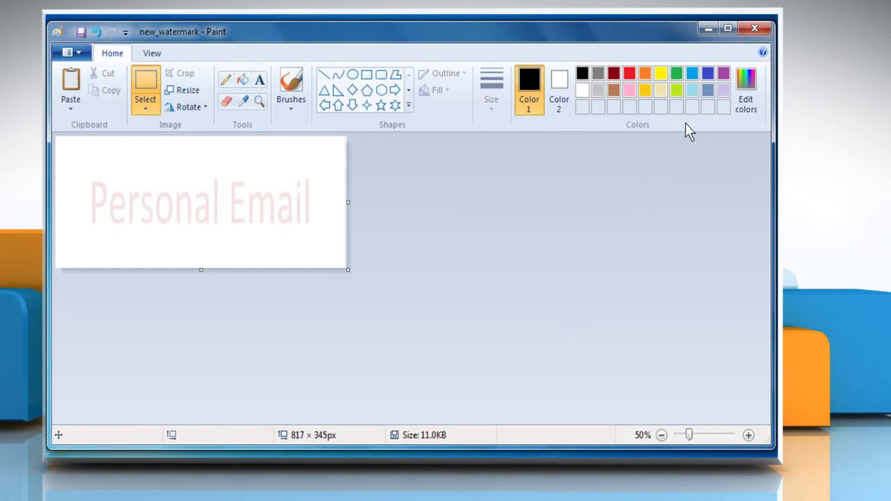 How To Add A Watermark Image Or Background In Outlook