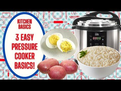 3 EASY INSTANT POT PRESSURE COOKER BASICS!!