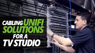 A DAY in the LIFE of the DATA CENTRE | CABLING UNIFI WIFI (SDN) SOLUTIONS for TV STUDIO!