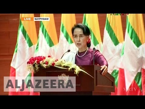 Aung San Suu Kyi's speech in full: 'We condemn all human rights violations'