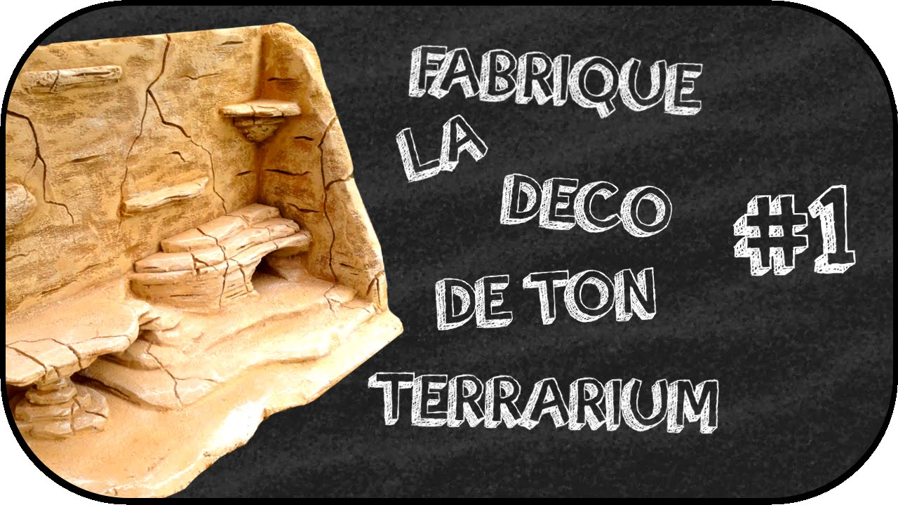 Tuto fabrication d 39 un d cors fond de terrarium 1 youtube - Decor de fond terrarium desertique ...