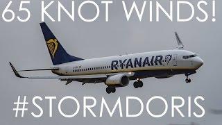 Extreme Windshear Go Arounds during Storm Doris at Liverpool Airport | #StormDoris