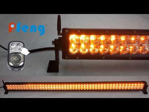 new amber white strobe led light bar youtube. Black Bedroom Furniture Sets. Home Design Ideas