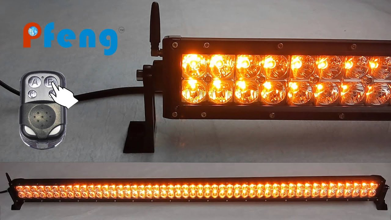 New amber white strobe led light bar youtube new amber white strobe led light bar aloadofball Image collections