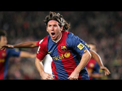 Lionel Messi first Hat trick FC Barcelona vs Real Madrid