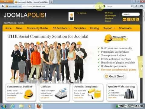 Install Community Builder in Joomla! 2.5