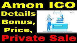 Amon ICO / Amon Token sale / Bonus details / Price