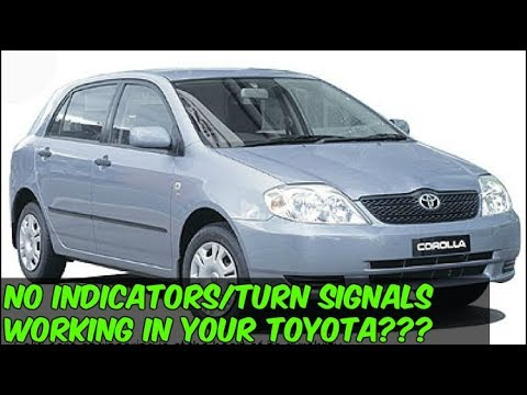 no indicators turn signals working in a toyota corolla check this no indicators turn signals working in a toyota corolla check this out for help