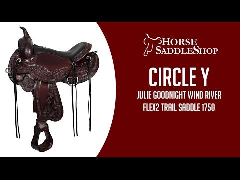 Circle Y Julie Goodnight Wind River Flex2 Trail Saddle 1750 w/Free Pad
