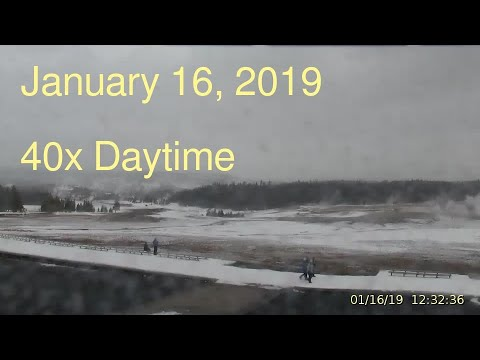 January 16, 2019 Upper Geyser Basin Daytime Streaming Camera Captures