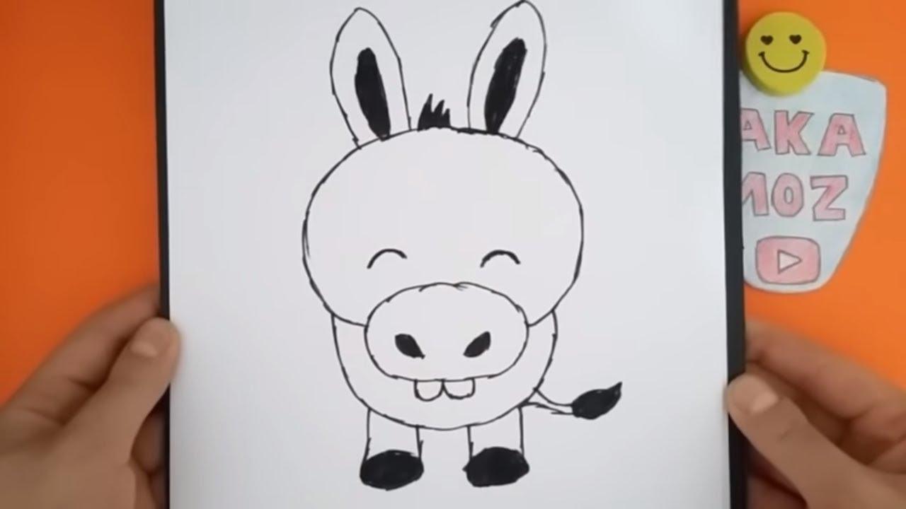 Sevimli Eşek çizimi Kolay Hayvan çizimi Youtube