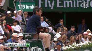 Djokovic gets angry with Umpire