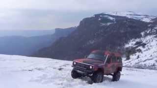 Тест драйв Ниссан сафари на 2 блокировках по снегу.  Nissan Safari