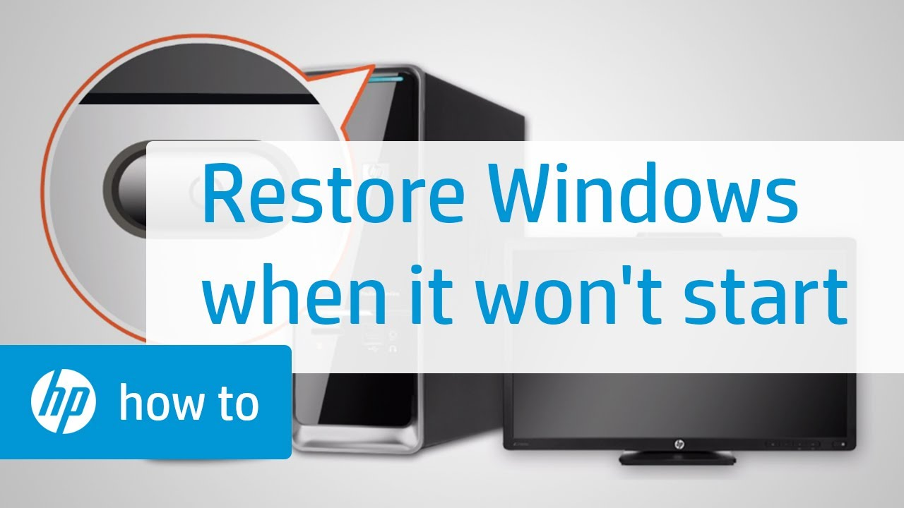 How To Restore Windows When Windows Cannot Start Normally   HP Computers    HP