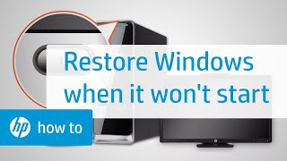 How To Restore Windows When Windows Cannot Start Normally | HP Computers | HP