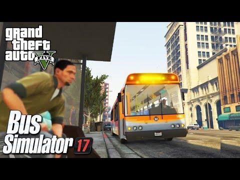 GTA 5 BUS SIMULATOR - ROUTE A -ULTRA GRAPHICS HD