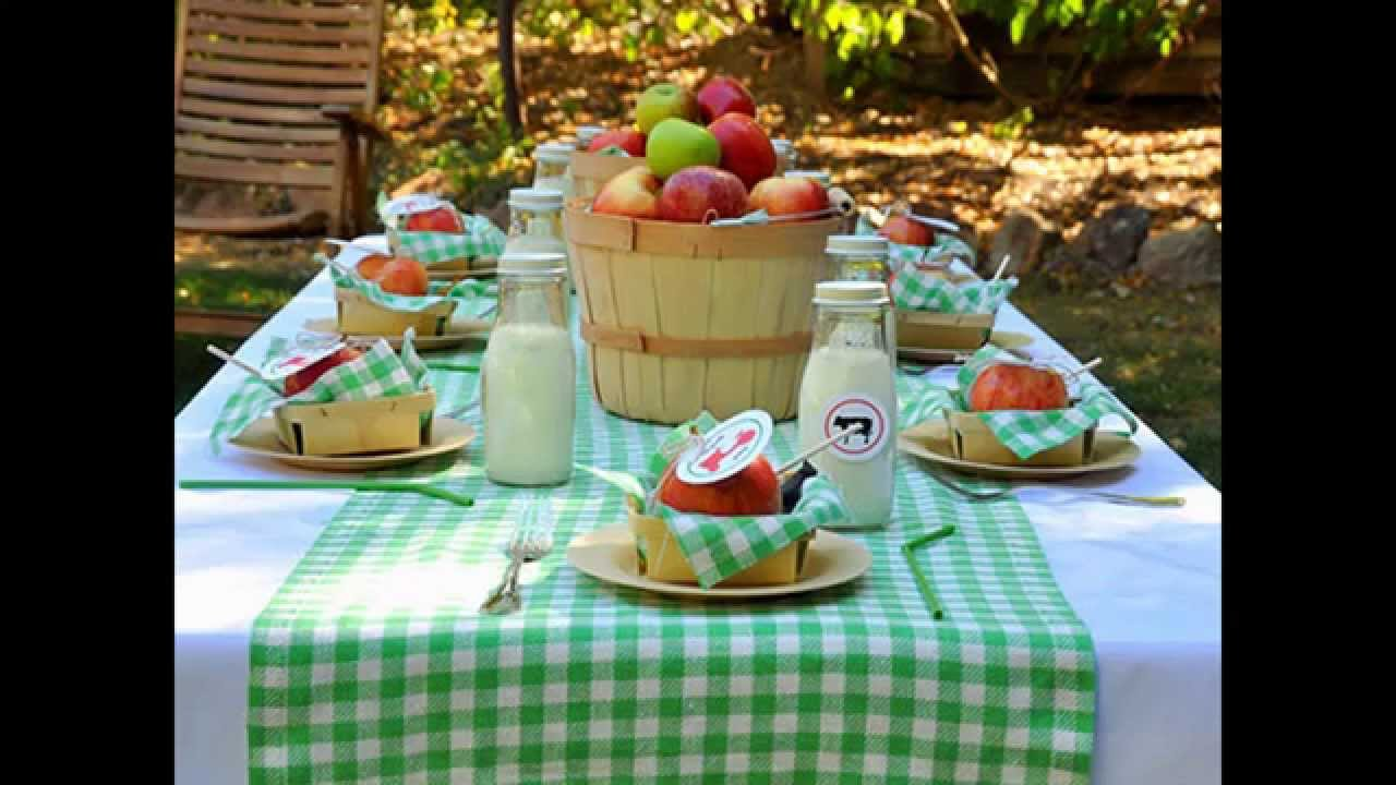 Summer picnic decorations ideas - YouTube
