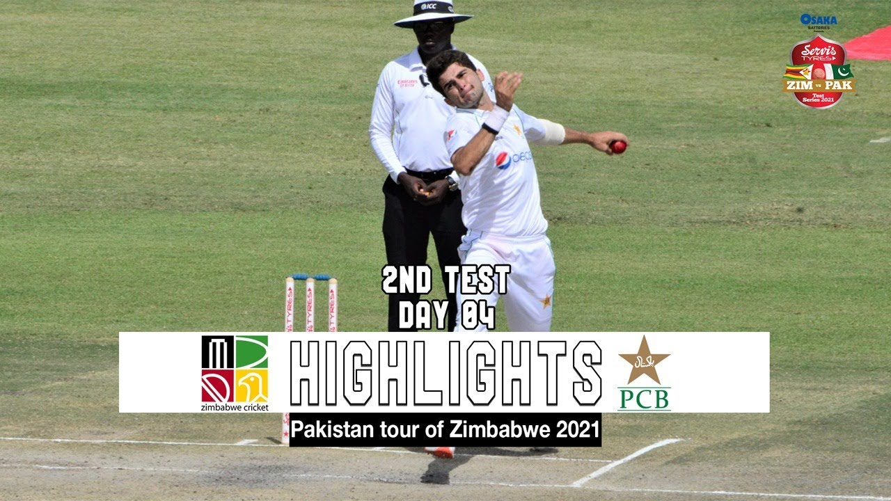 Zimbabwe vs Pakistan Highlights | 2nd Test | Day 4 | Pakistan tour of Zimbabwe 2021